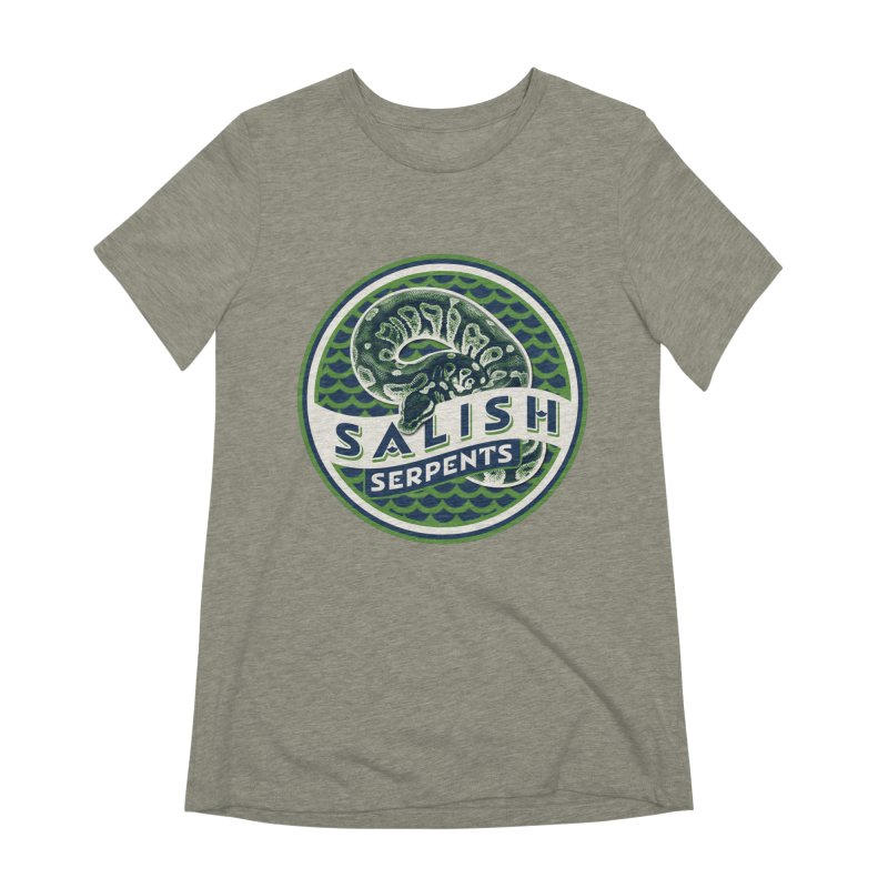 SALISH SERPENTS Women's Extra Soft T-Shirt by Drawn to Scales