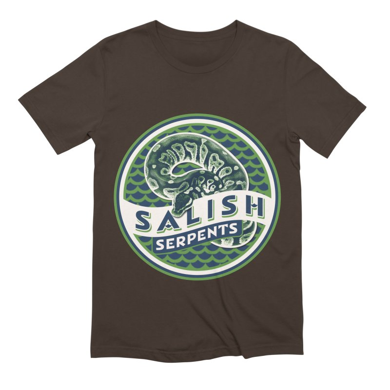SALISH SERPENTS Men's Extra Soft T-Shirt by Drawn to Scales