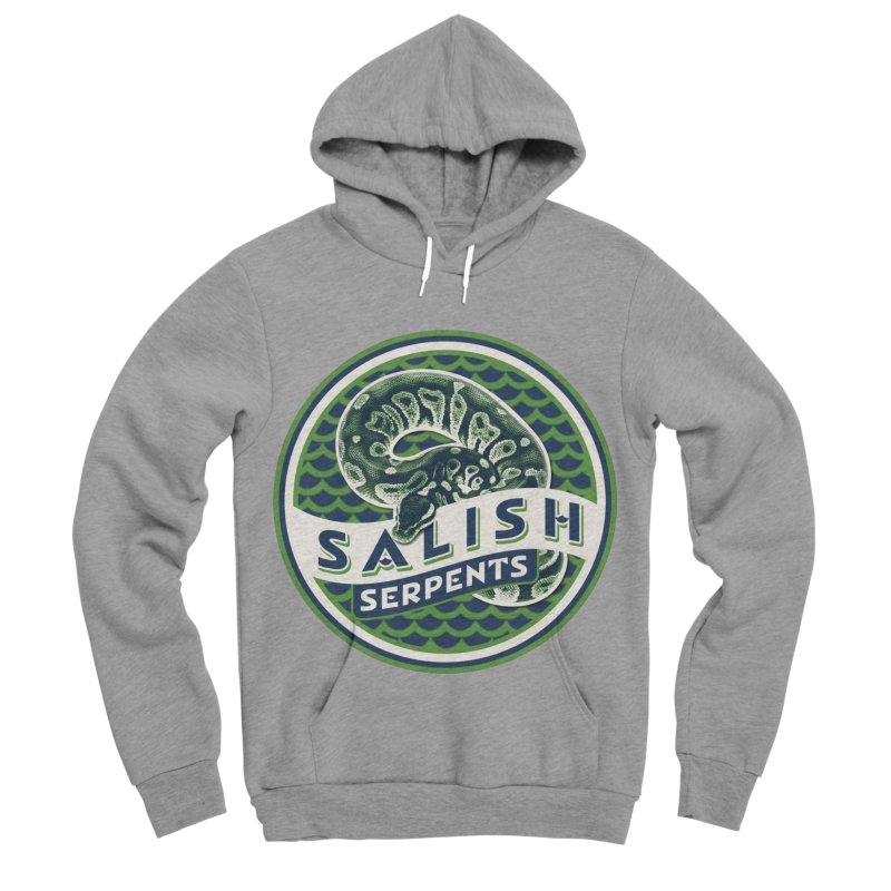 SALISH SERPENTS Women's Sponge Fleece Pullover Hoody by Drawn to Scales