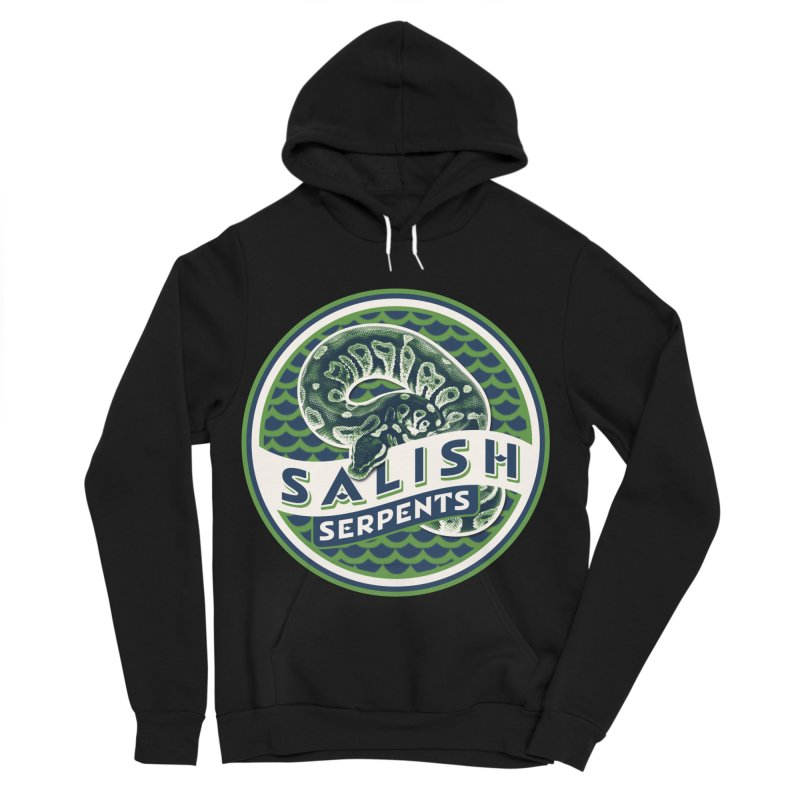 SALISH SERPENTS Men's Sponge Fleece Pullover Hoody by Drawn to Scales