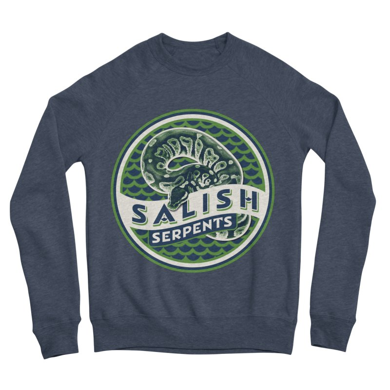 SALISH SERPENTS Women's Sponge Fleece Sweatshirt by Drawn to Scales