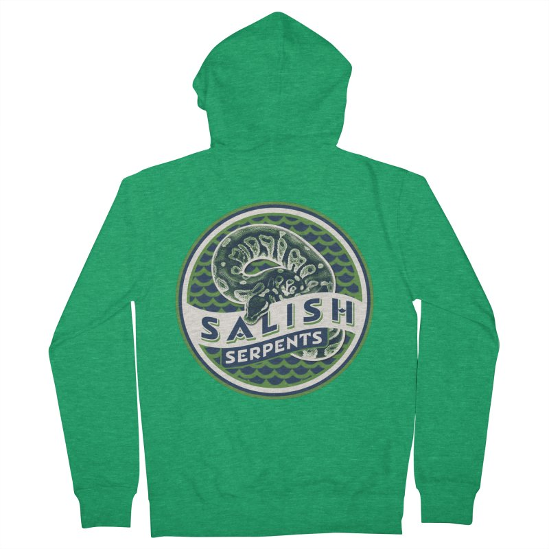 SALISH SERPENTS Women's Zip-Up Hoody by Drawn to Scales