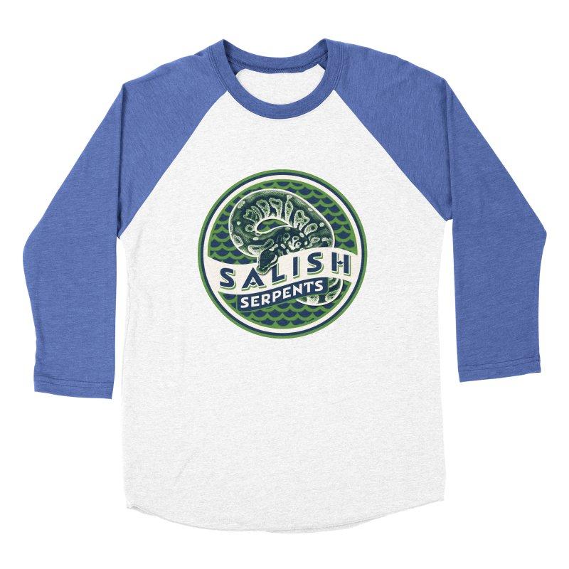 SALISH SERPENTS Men's Baseball Triblend Longsleeve T-Shirt by Drawn to Scales