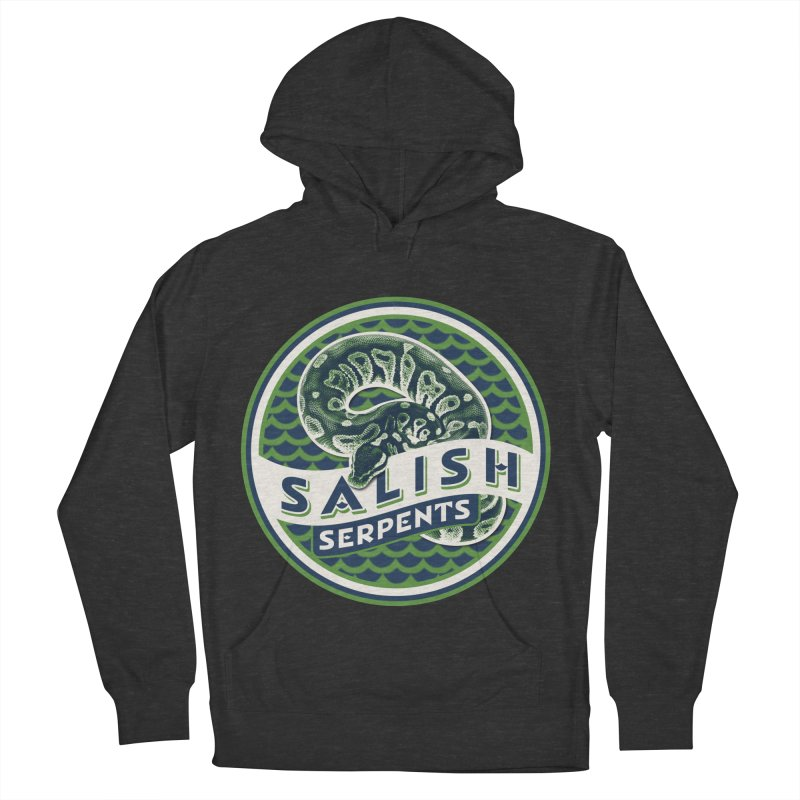 SALISH SERPENTS Women's French Terry Pullover Hoody by Drawn to Scales