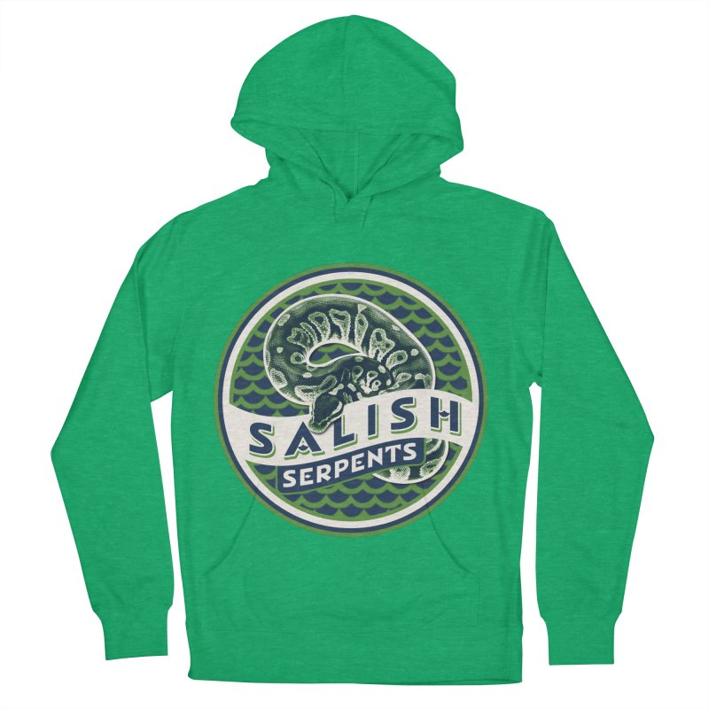 SALISH SERPENTS Men's French Terry Pullover Hoody by Drawn to Scales