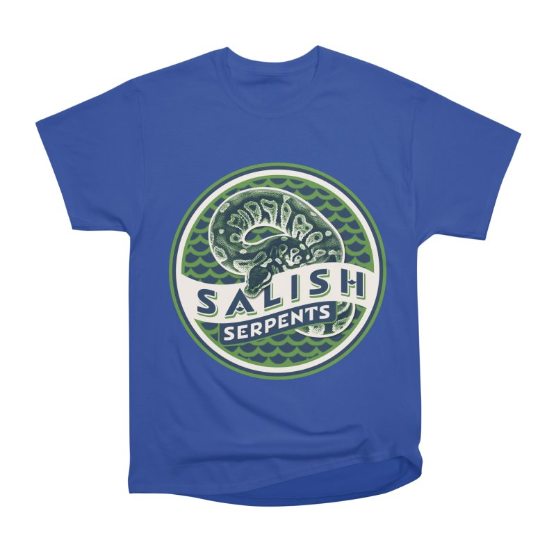 SALISH SERPENTS Women's Heavyweight Unisex T-Shirt by Drawn to Scales