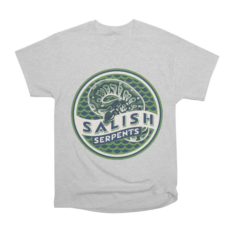 SALISH SERPENTS Men's Heavyweight T-Shirt by Drawn to Scales