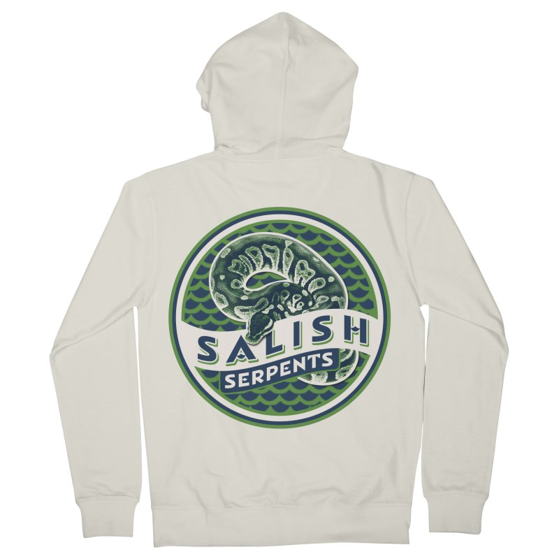 SALISH SERPENTS Women's French Terry Zip-Up Hoody by Drawn to Scales