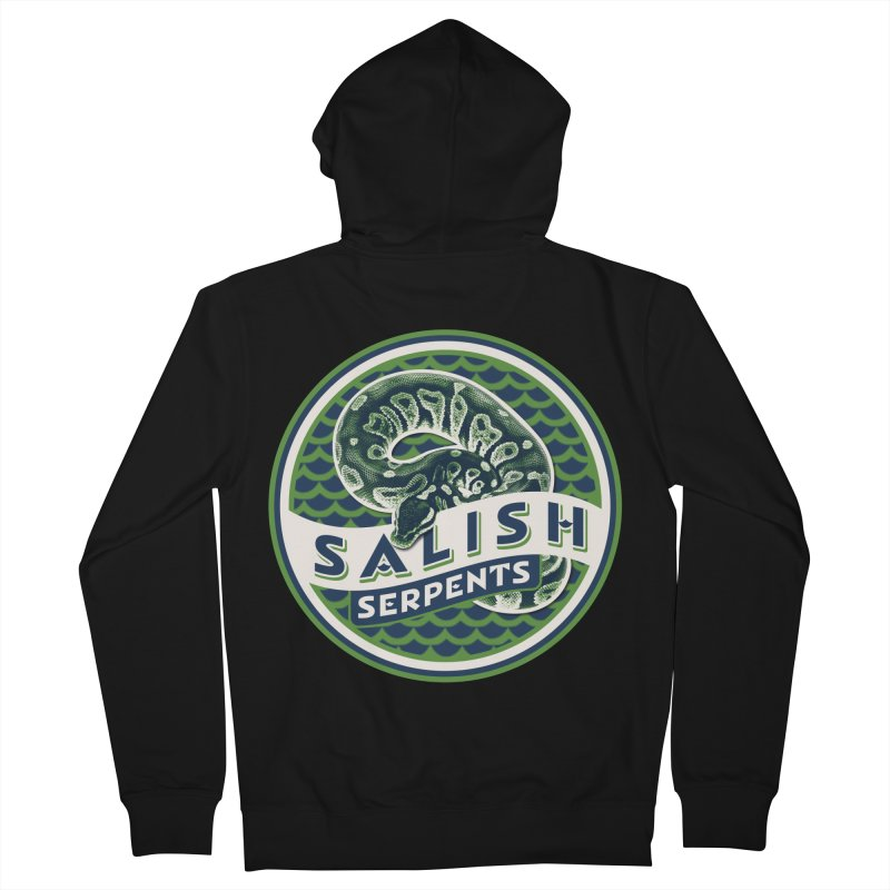 SALISH SERPENTS Men's French Terry Zip-Up Hoody by Drawn to Scales