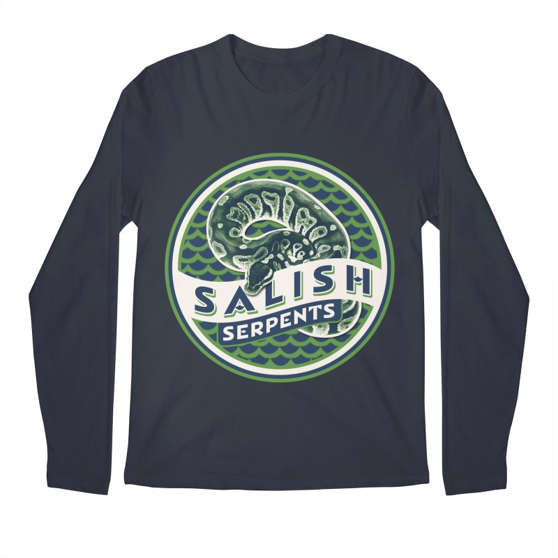 SALISH SERPENTS Men's Regular Longsleeve T-Shirt by Drawn to Scales