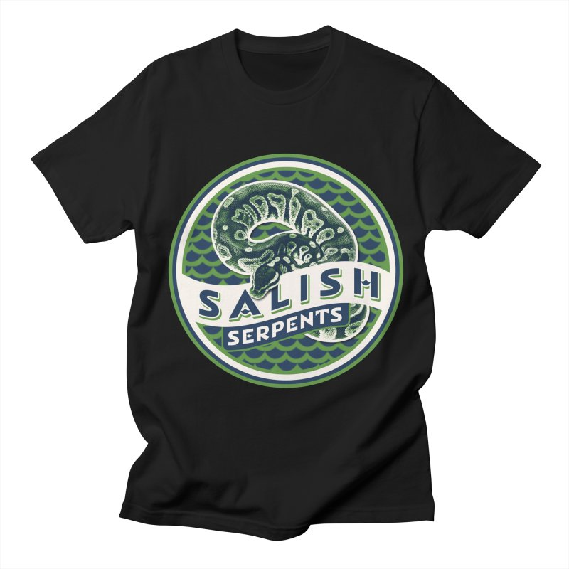SALISH SERPENTS Men's Regular T-Shirt by Drawn to Scales