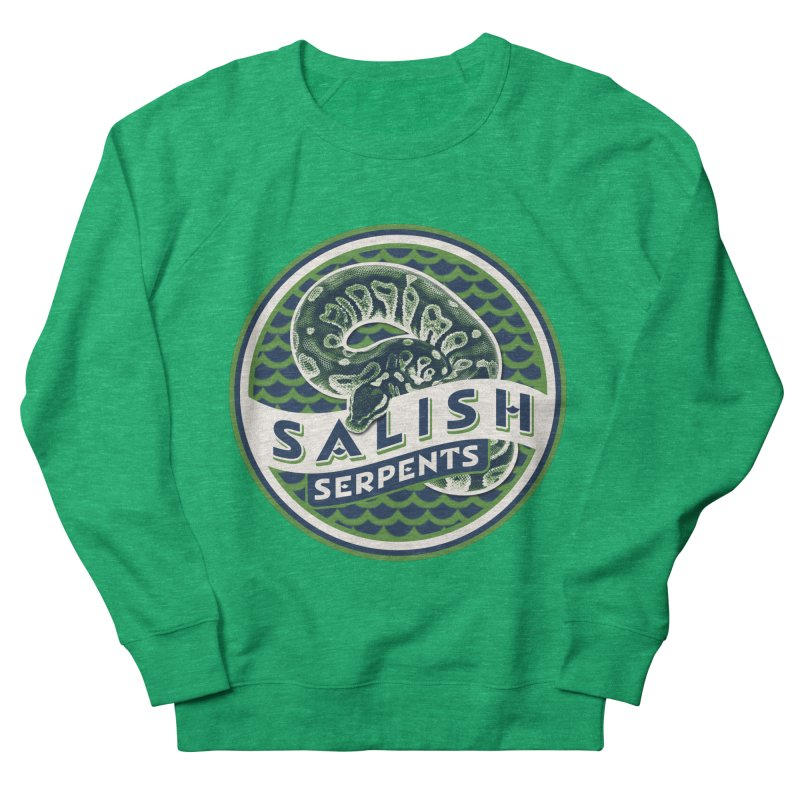 SALISH SERPENTS Women's French Terry Sweatshirt by Drawn to Scales