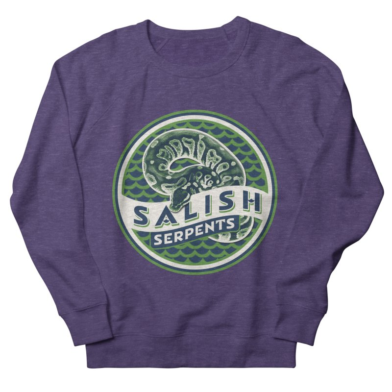 SALISH SERPENTS Men's French Terry Sweatshirt by Drawn to Scales