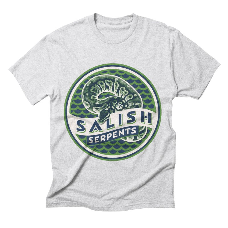 SALISH SERPENTS Men's Triblend T-Shirt by Drawn to Scales