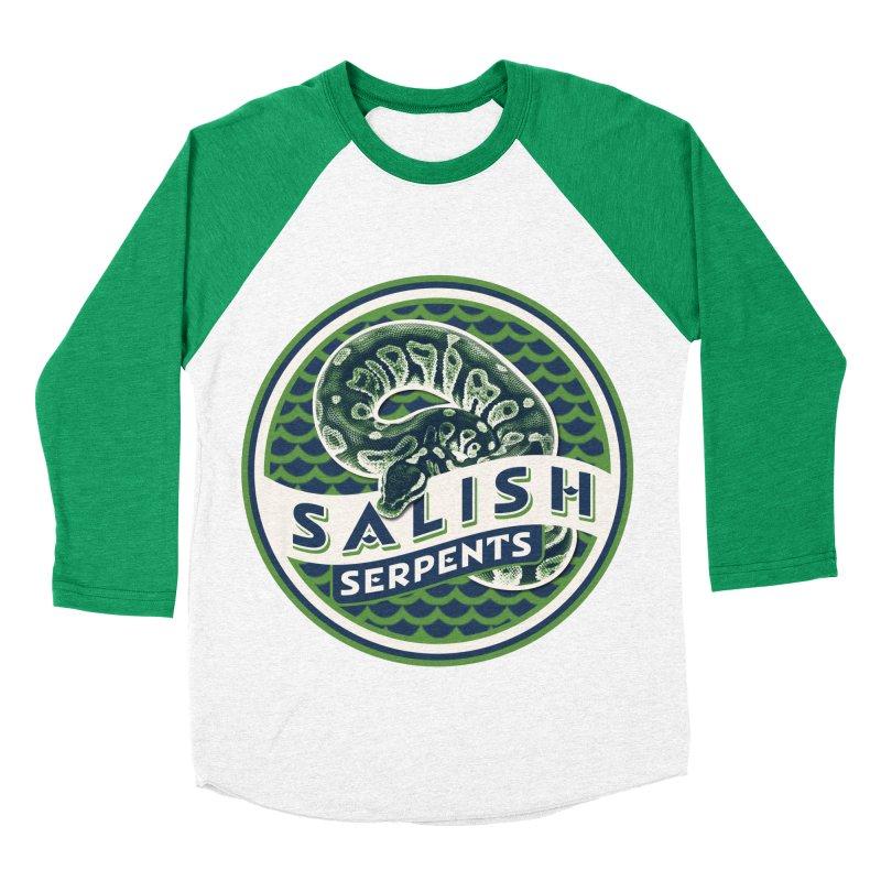 SALISH SERPENTS Women's Baseball Triblend Longsleeve T-Shirt by Drawn to Scales