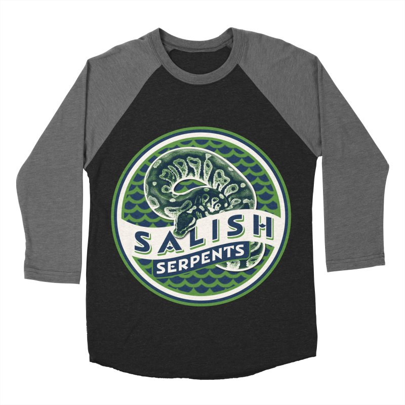 SALISH SERPENTS Women's Baseball Triblend Longsleeve T-Shirt by Drawn to Scales