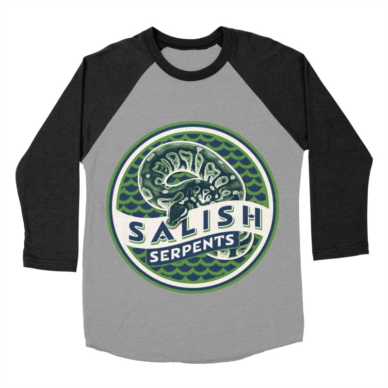 SALISH SERPENTS Men's Baseball Triblend Longsleeve T-Shirt by Drawn to Scales