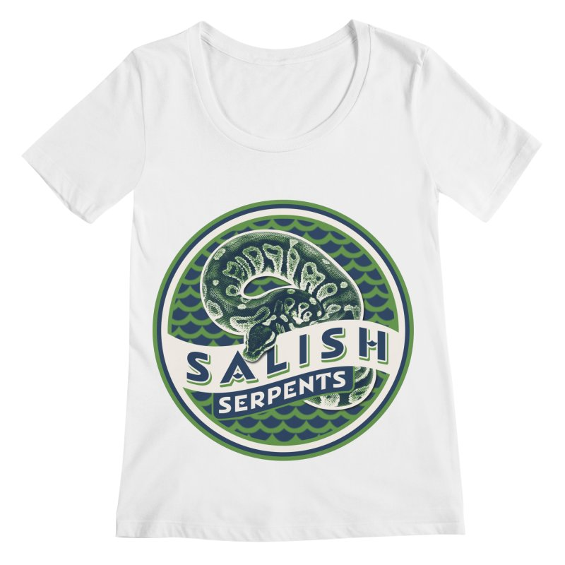 SALISH SERPENTS Women's Regular Scoop Neck by Drawn to Scales