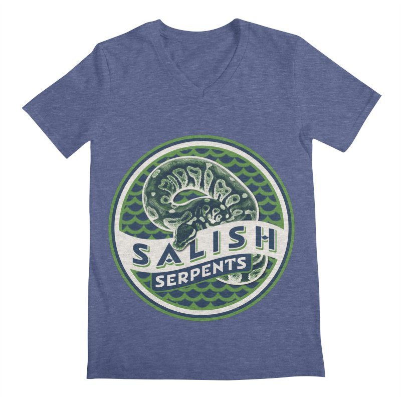 SALISH SERPENTS Men's Regular V-Neck by Drawn to Scales