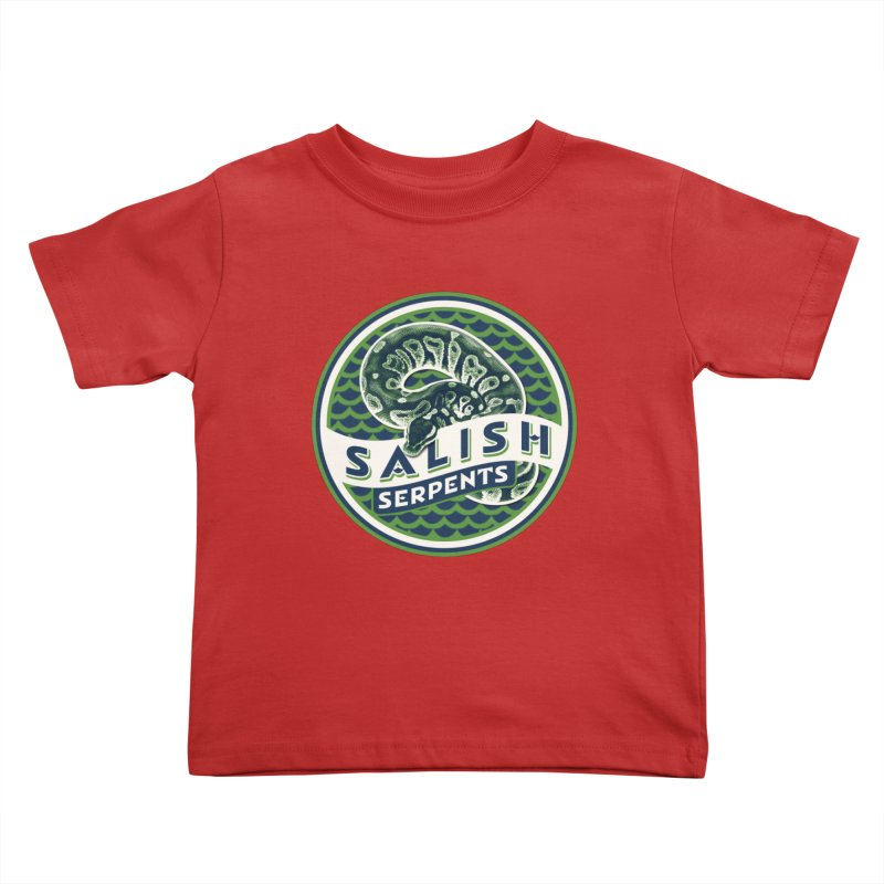 SALISH SERPENTS Kids Toddler T-Shirt by Drawn to Scales