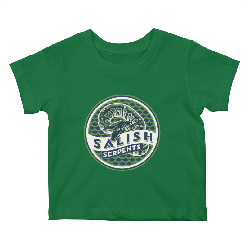 SALISH SERPENTS Kids Baby T-Shirt by Drawn to Scales