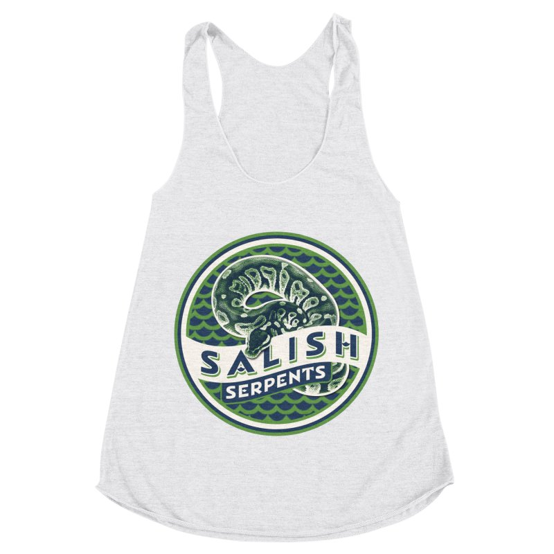 SALISH SERPENTS Women's Racerback Triblend Tank by Drawn to Scales