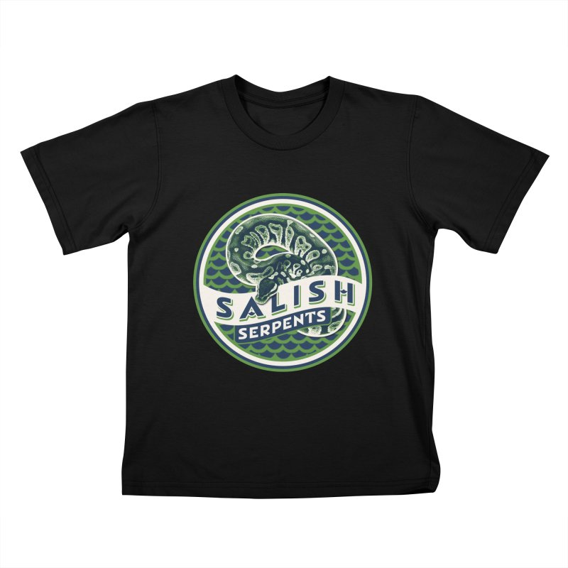 SALISH SERPENTS Kids T-Shirt by Drawn to Scales