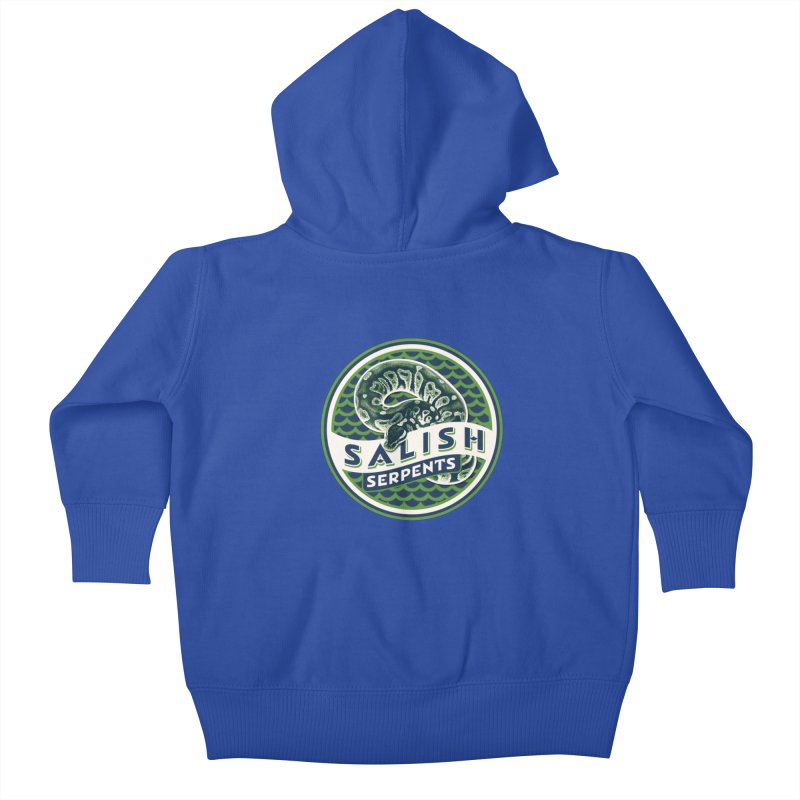 SALISH SERPENTS Kids Baby Zip-Up Hoody by Drawn to Scales