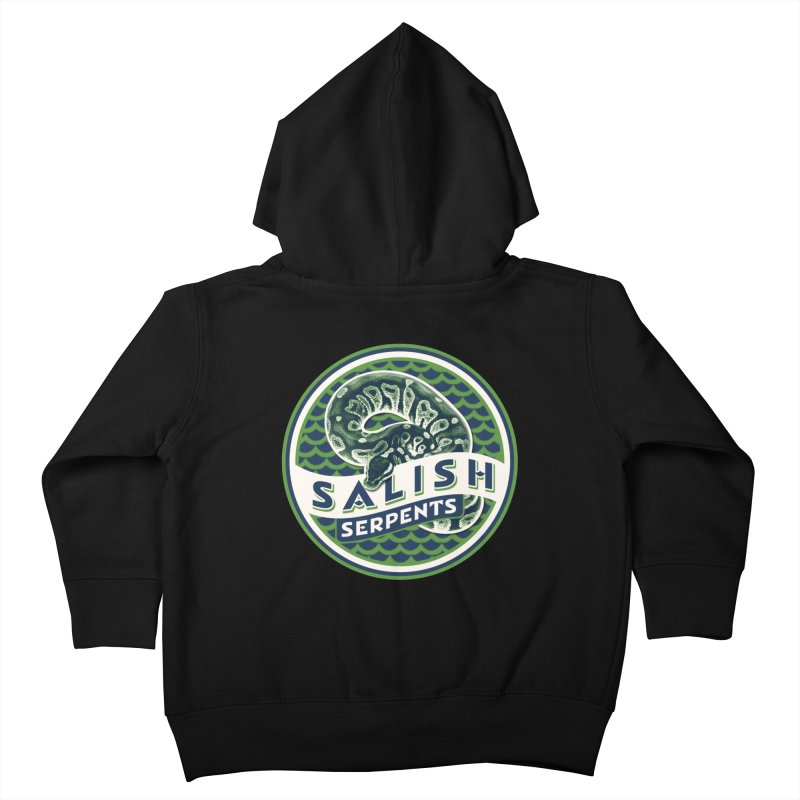 SALISH SERPENTS Kids Toddler Zip-Up Hoody by Drawn to Scales