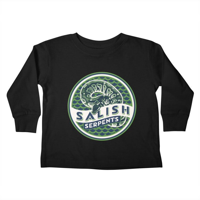 SALISH SERPENTS Kids Toddler Longsleeve T-Shirt by Drawn to Scales
