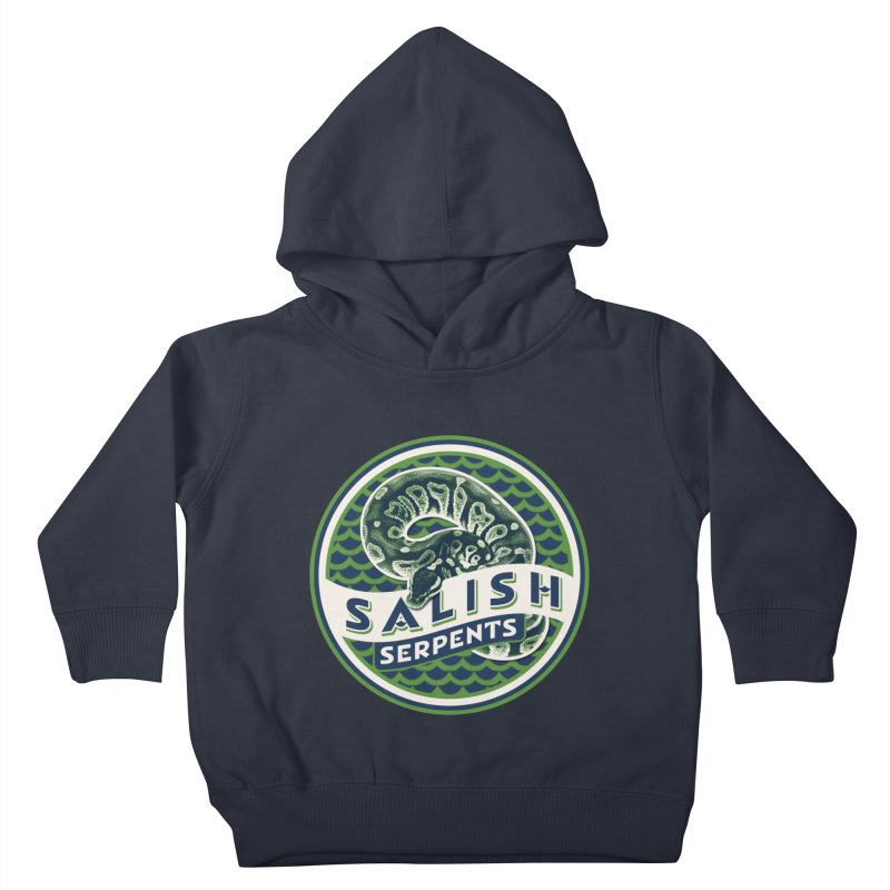 SALISH SERPENTS Kids Toddler Pullover Hoody by Drawn to Scales