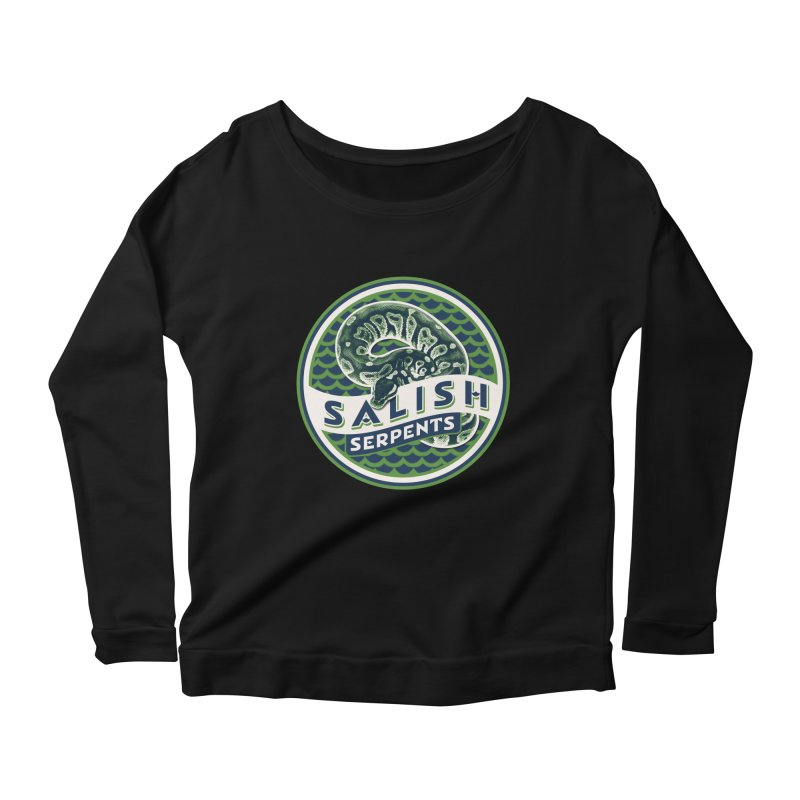 SALISH SERPENTS Women's Scoop Neck Longsleeve T-Shirt by Drawn to Scales