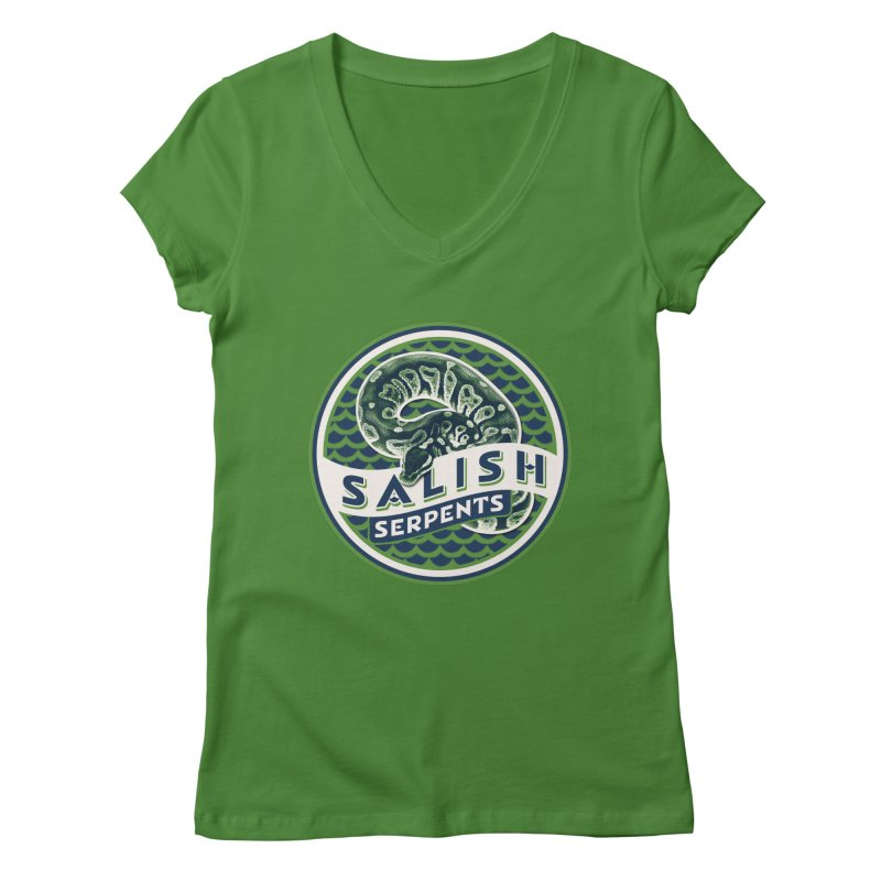 SALISH SERPENTS Women's Regular V-Neck by Drawn to Scales