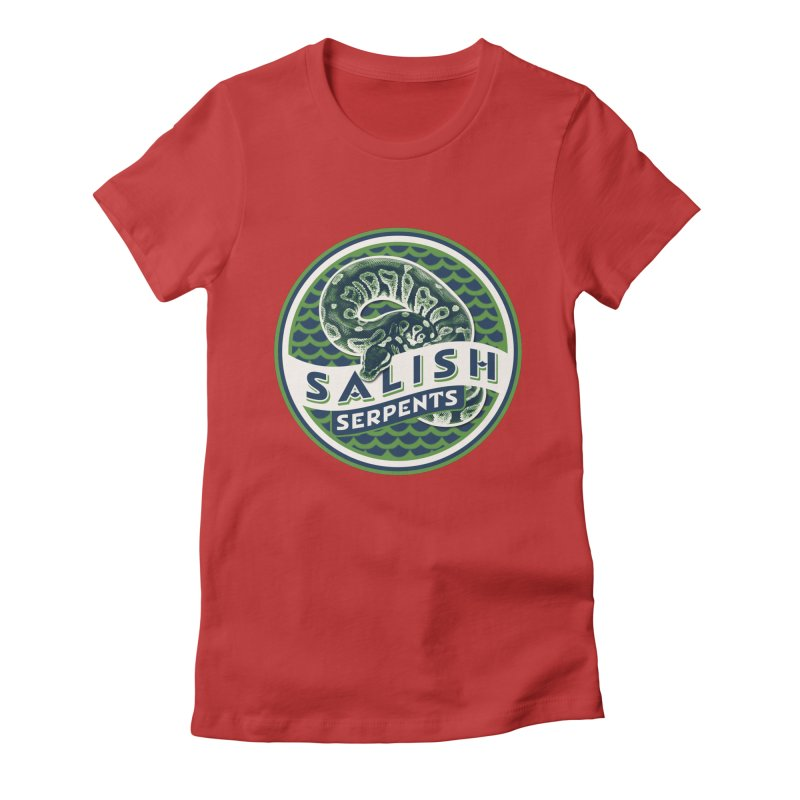 SALISH SERPENTS Women's Fitted T-Shirt by Drawn to Scales