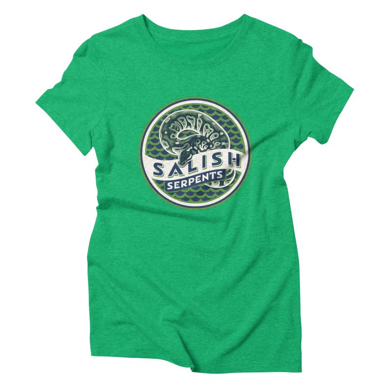 SALISH SERPENTS Women's Triblend T-Shirt by Drawn to Scales