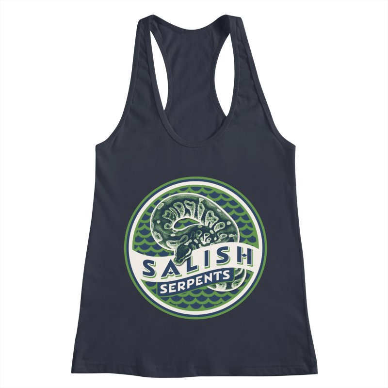 SALISH SERPENTS Women's Racerback Tank by Drawn to Scales
