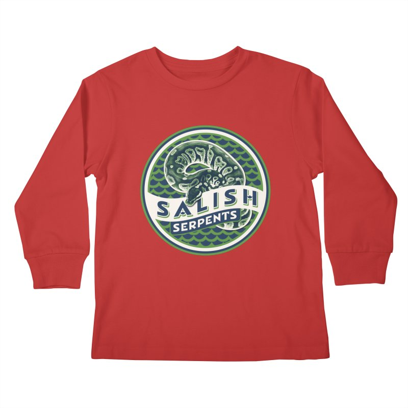 SALISH SERPENTS Kids Longsleeve T-Shirt by Drawn to Scales