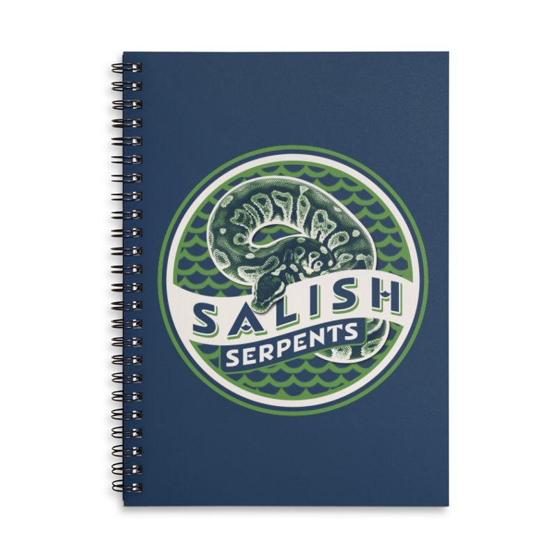 SALISH SERPENTS Accessories Notebook by Drawn to Scales