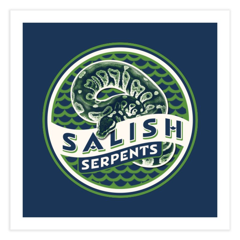SALISH SERPENTS Home Fine Art Print by Drawn to Scales