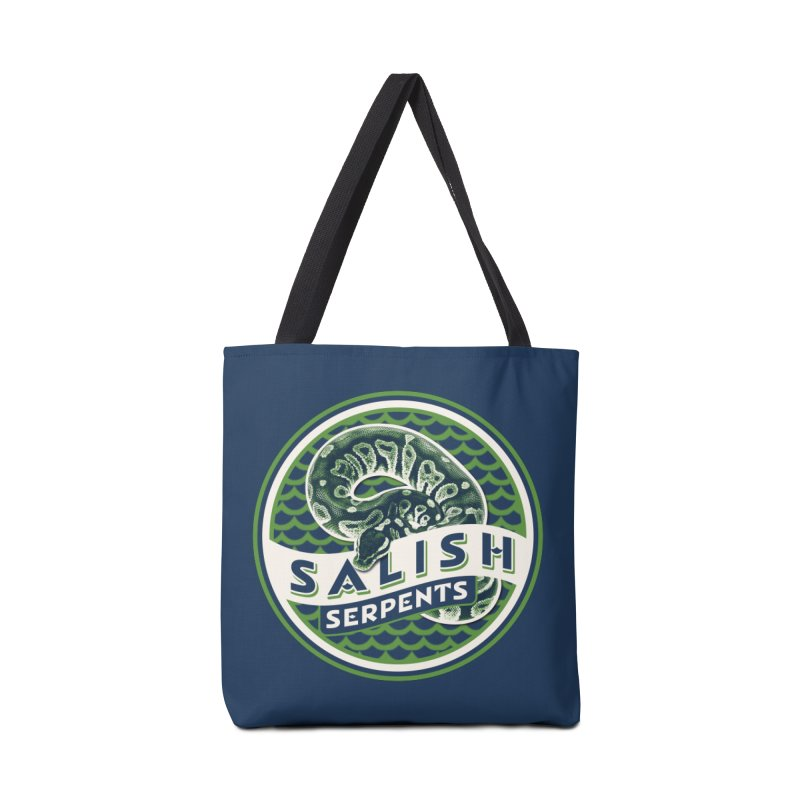 SALISH SERPENTS Accessories Tote Bag Bag by Drawn to Scales