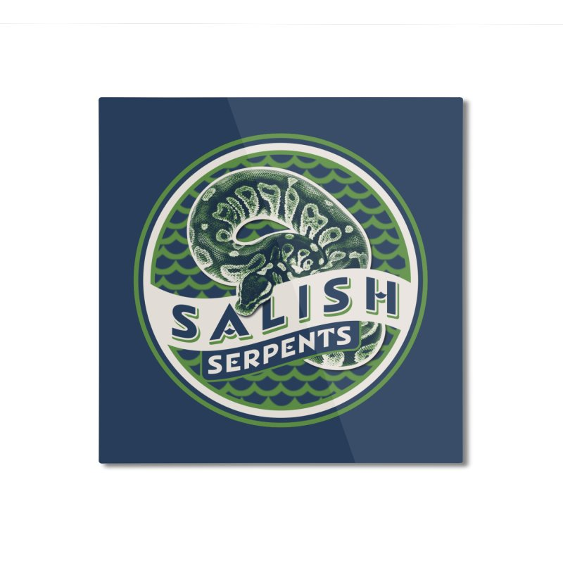 SALISH SERPENTS Home Mounted Aluminum Print by Drawn to Scales