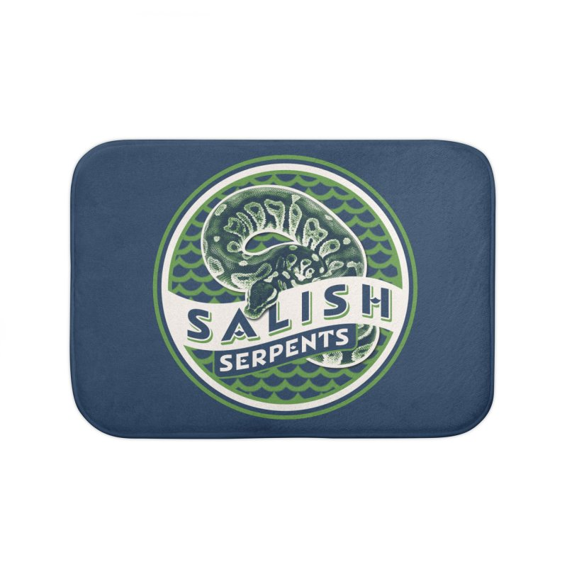 SALISH SERPENTS Home Bath Mat by Drawn to Scales