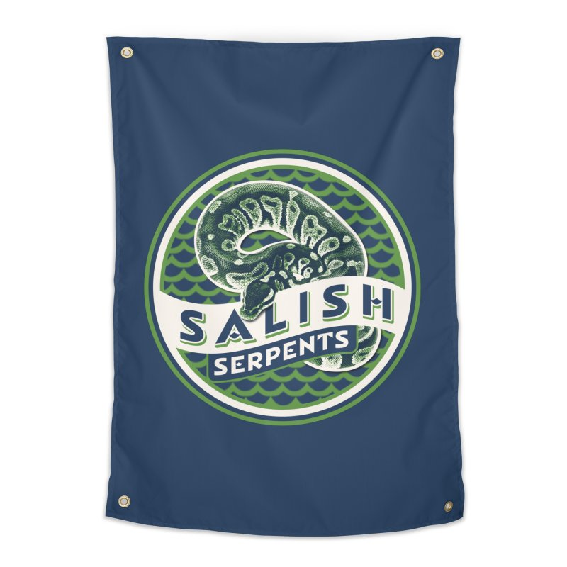 SALISH SERPENTS Home Tapestry by Drawn to Scales