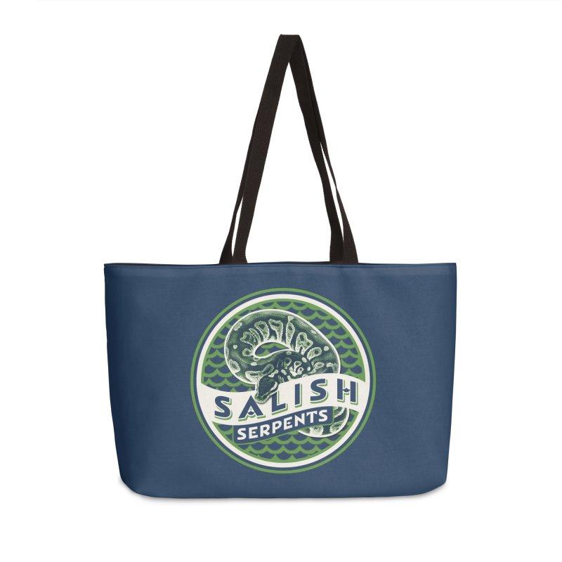 SALISH SERPENTS Accessories Weekender Bag Bag by Drawn to Scales