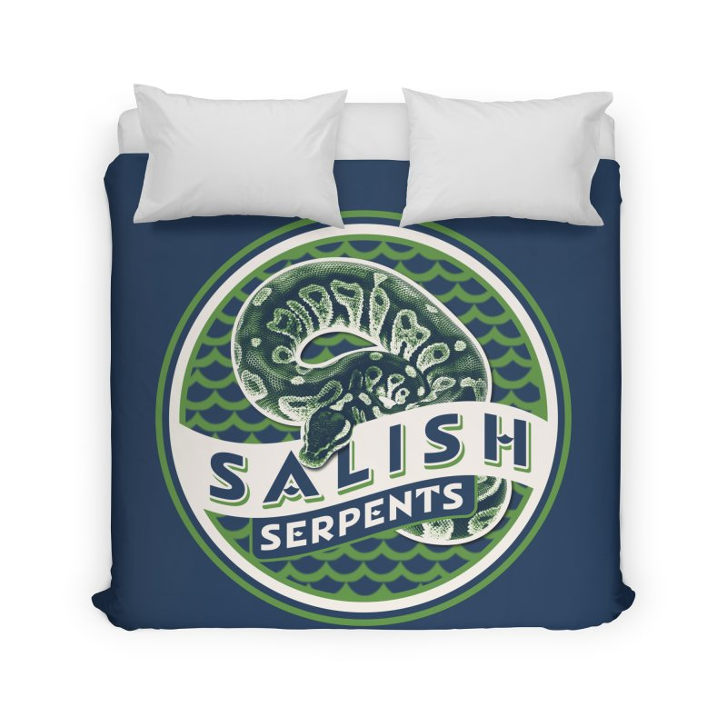 SALISH SERPENTS Home Duvet by Drawn to Scales