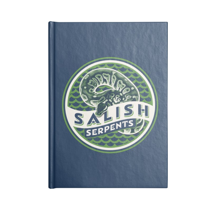 SALISH SERPENTS Accessories Lined Journal Notebook by Drawn to Scales