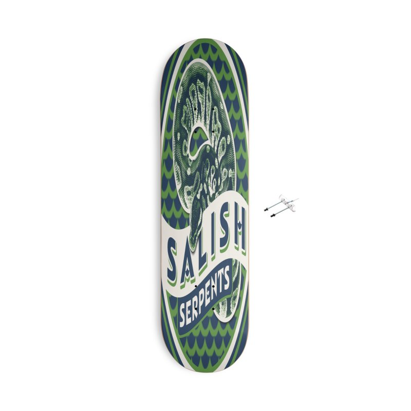 SALISH SERPENTS Accessories With Hanging Hardware Skateboard by Drawn to Scales