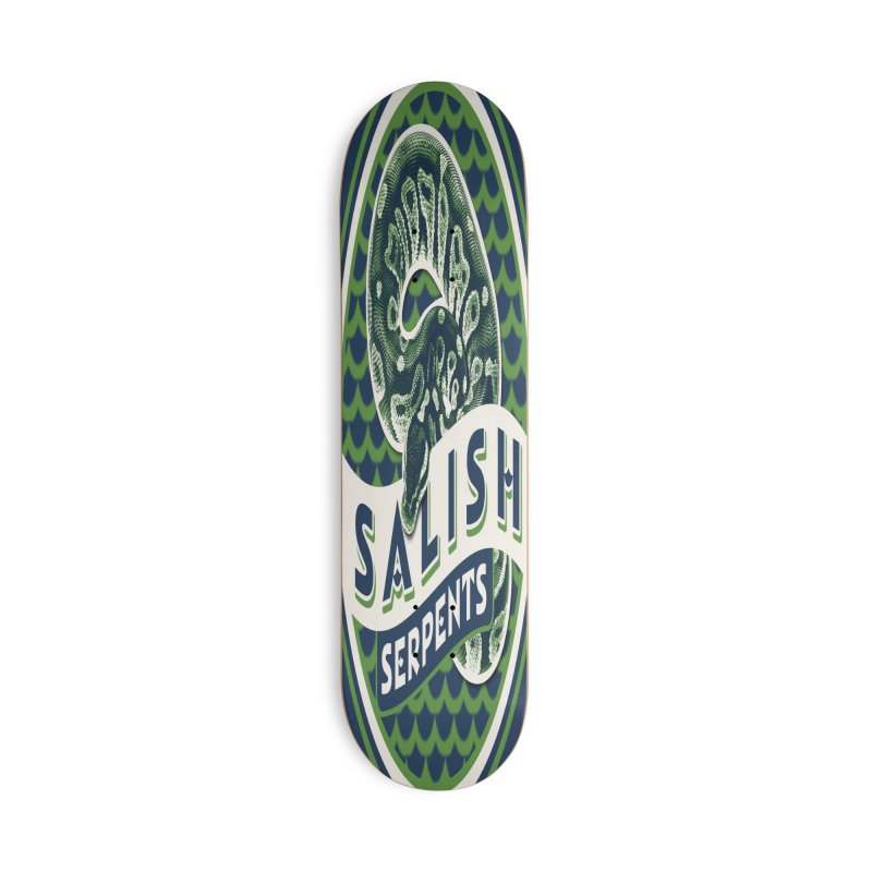 SALISH SERPENTS Accessories Deck Only Skateboard by Drawn to Scales