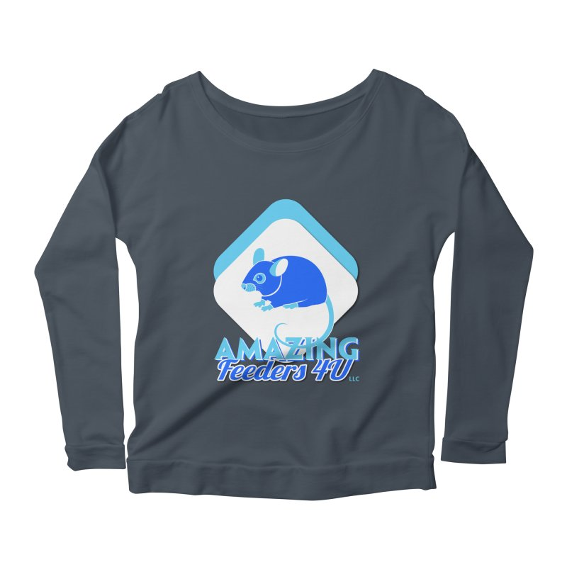 Amazing Feeders 4U Women's Scoop Neck Longsleeve T-Shirt by Drawn to Scales