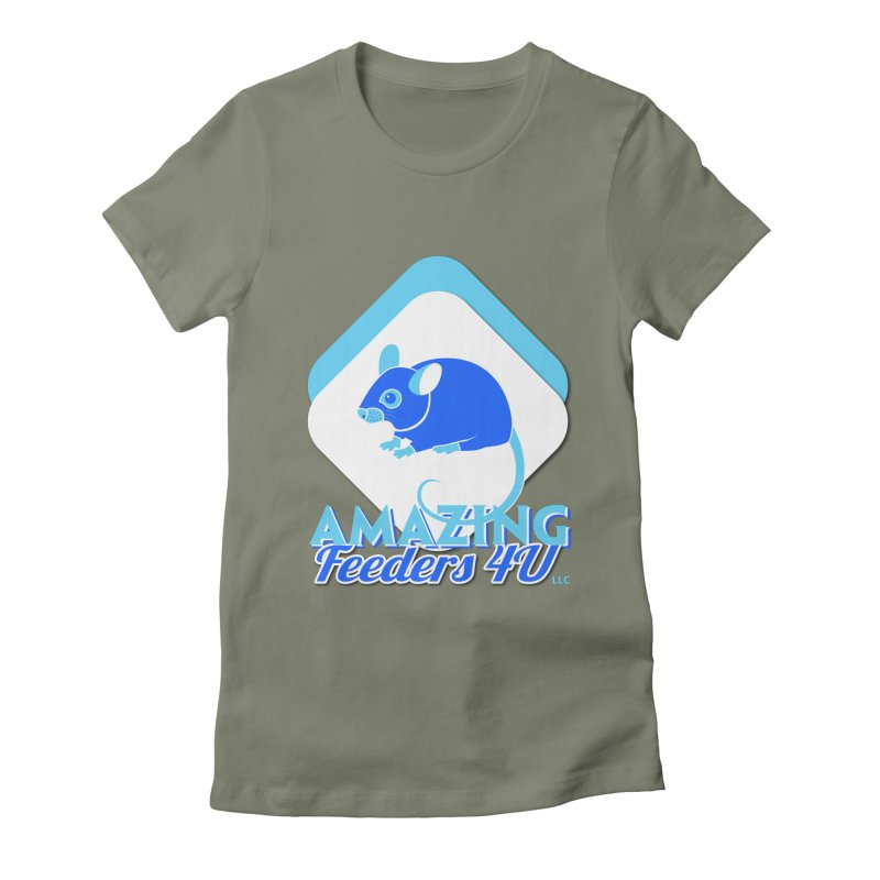 Amazing Feeders 4U Women's Fitted T-Shirt by Drawn to Scales